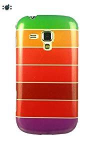 Dressmyphone Colorful Rainbow Soft TPU Jacket for Samsung Galaxy S Duos 2 S7582 and Samsung Galaxy S Duos S7562  Design 6    Multicolor available at Amazon for Rs.349