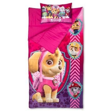 Paw Patrol Sleepover Set Slumber Bag and Pillow Girls