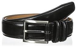 Nautica Boys' 30mm Dress Belts, Black, 22