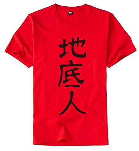 "Japanese "" TITEIJIN "" Character T-shirt [ Red M size ] Anime Costume"