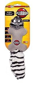Jakks Plubber Dog Toy, Raccoon, Small