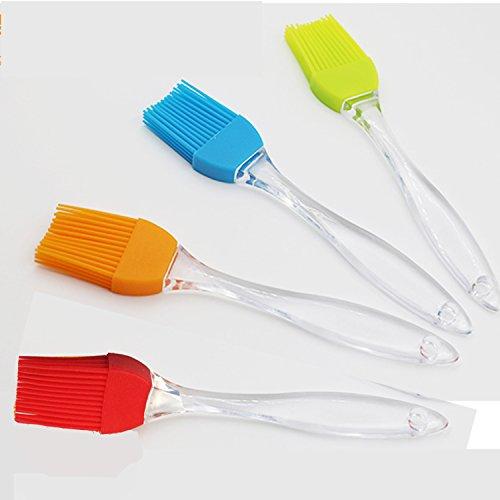 iNeibo Silikon Backpinsel 4er-Set hitzebest/ändig und Sp/ülmaschinenfest 4 Farben