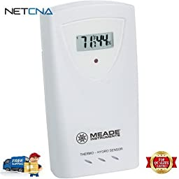 Wireless Remote Temperature and Humidity Sensor With Free 6 Feet NETCNA HDMI Cable - BY NETCNA