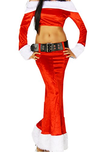 HO-Ersoka Weihnachts-Kostüm - rot/weiß - OS