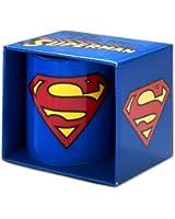 Kaffeebecher Superman - Logo - DC Comics - blau - Tasse - Lizenziertes Originaldesign - LOGOSHIRT