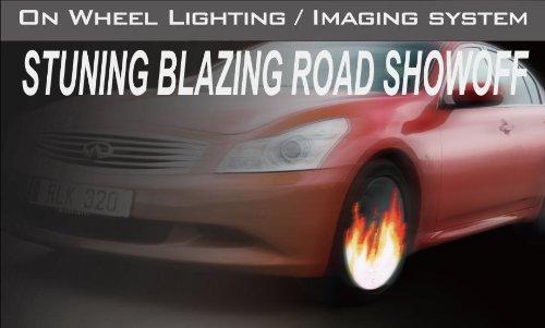"""Fantasma Owl Led On-Wheel Lighting/Image System-17"""" & 18"""" (1 Unit)"""