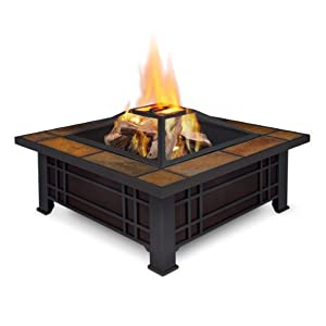Amazon Com Real Flame Morrison Wood Burning Fire Pit
