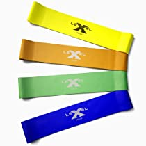 Awesome Exercise Bands - Resistance Bands - Loop Bands - Stretch Bands : A Strong Set of 4 Premium Mini Bands that best compliment and improve ANY workout routine you throw at them. Use them for: Pilates, Crossfit, P90X, Insanity, T25, Brazilian Butt Lift, or any DVD training program you have in mind. Enhance your exercise plan using these high quality fitness bands with unsurpassed durability, reliability, and multiple strength levels to easily withstand your most creative and demanding workouts. These Exercise Bands Are Also GUARANTEED!