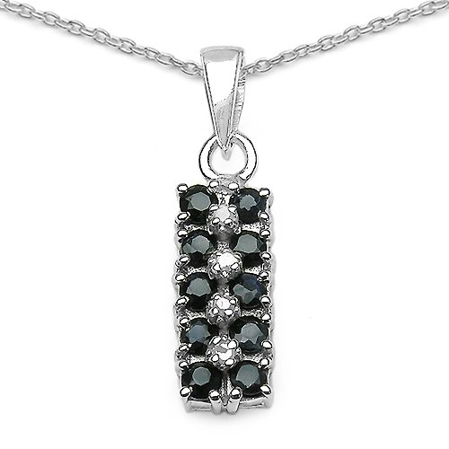 0.84 Carat Genuine Sapphire 925 Sterling Silver Pendant