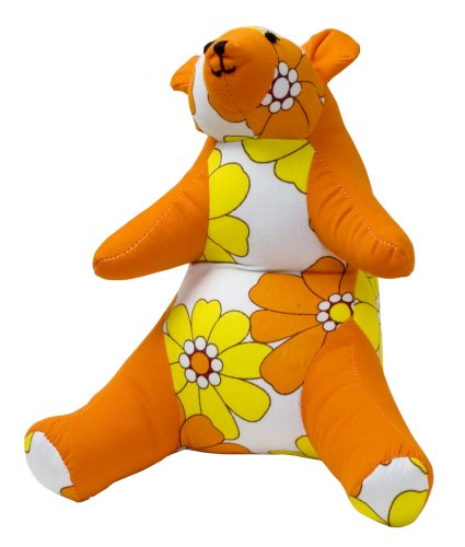 Color Zoo Bailey the Bear Stuffed Animal in Yellow Fields