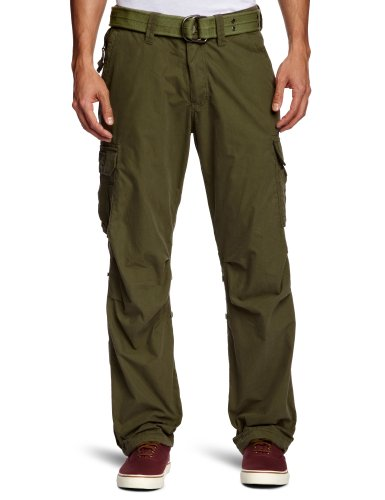 Schott (Brand National) Cargo US 70 Straight Men's Trousers Khaki XX-Large