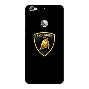 Delighted Lambo Golden Back Case Cover for LeTV Le 1s