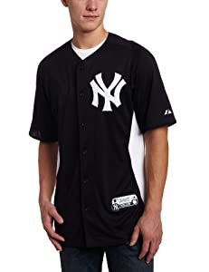 MLB Majestic New York Yankees Batting Practice Performance Jersey - Navy Blue-White by Majestic