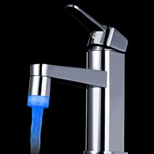 dodocool Excellent 7 couleurs multicolore changement automatique lueur LED de jet d'eau de robinet de robinet Idéal pour salle de bains ou la cuisine