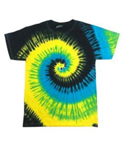Tie-Dye T-Shirt   Short Sleeve   100% Cotton   Tropical Breeze (Large