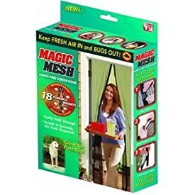Allstar Marketing Group Llc MM011124 Magic Mesh Hands Free Screen Door, As Seen On TV