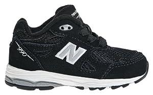 New Balance KJ990 Lace-Up Running Shoe (Infant/Toddler),Black,8 W US Toddler