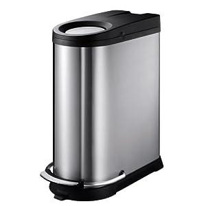Household Essentials EKO Viva Stainless Steel Push-Pull Step Waste Bin