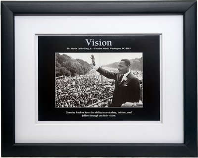 vision-dr-martin-luther-king-framed-and-matted-african-american-motivational-poster-size-10x8-inches
