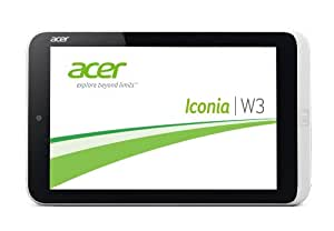 Acer Iconia W3-810 Z276 20,5cm (8,1 Zoll) Tablet-PC (Intel Atom Z2760, 2Go / GB RAM, 32Go / GB HDD, Win 8 OS) blanc