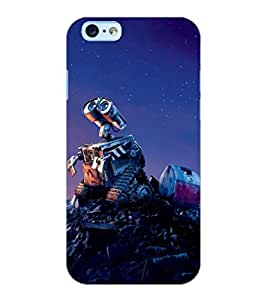 ColourCraft Robot Design Back Case Cover for APPLE IPHONE 6S