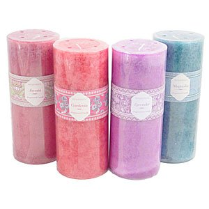 Paisley Pillar Candle Large - Freesia by Crafty Jungle