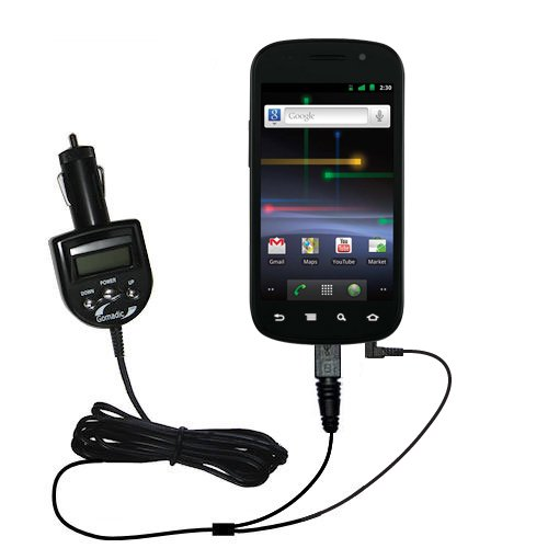 Unique Gomadic FM Transmitter with an integrated DC Auto Charger for the Samsung Nexus S - Listen to music from the Nexus S on the FM Radio