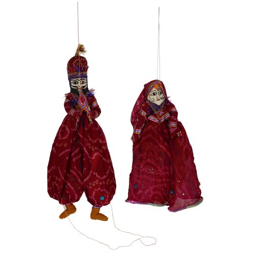 Rag dolls costumes personalized Marionette string puppets Indian katputli - 1
