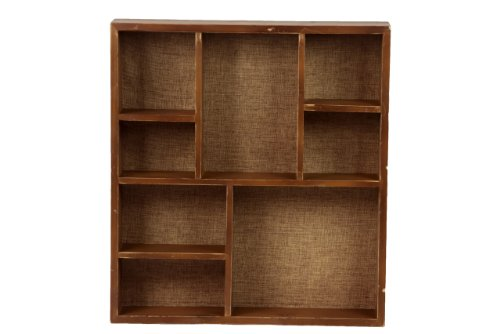 Urban Trends 35036 Decorative Wooden Wall Shelf Home