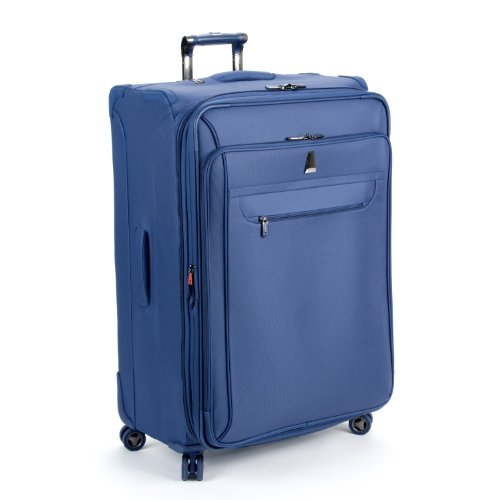 delsey luggage helium x 39 pert lite ultra light 4 wheel suiter upright blue 29 inch bags central. Black Bedroom Furniture Sets. Home Design Ideas