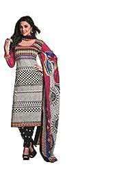 Design Willa Cotton Dress Material Saree (DW0304)