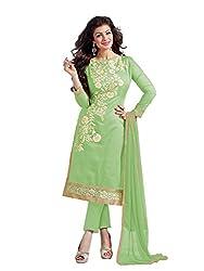 Manvaa Women's Silk Salwar Suit Dress Material (SMFDG5307H_Green)