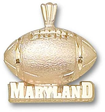 Maryland Terrapins Maryland Football Pendant - 14KT Gold Jewelry by Logo Art