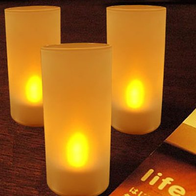 HDE Flameless electronic flicker candle