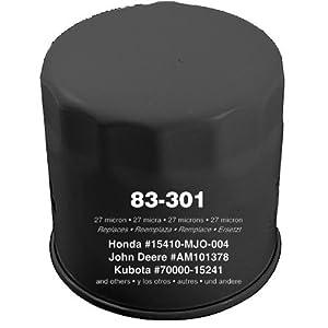 Oregon 83-301 Oil Filter Replaces Honda 15400-679-023 15400-POH-305 15410-MJO-003 15410-MJO-004 15410-MJO-405 John Deere AM101378