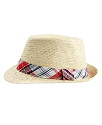 RuggedButts® Infant / Toddler Boys Fedora - Natural/Multi - 0-12m (S)
