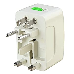 eForCity Universal World Wide Travel Charger Adapter Plug, White