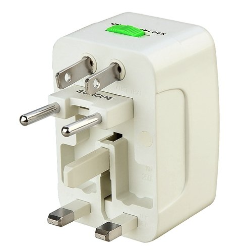 Insten Universal World Wide Travel Charger Adapter Plug, White - by eForCity