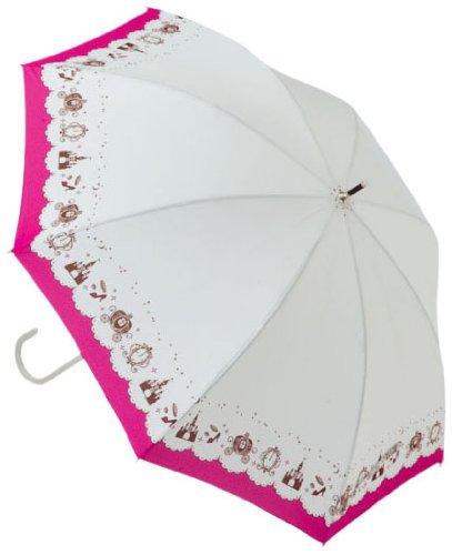 1064メルヘン晴雨兼用長傘ホワイト