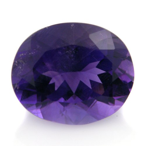 Natural Africa Purple Amethyst Loose Gemstone Oval Cut 11*10mm 4.10cts SI Grade