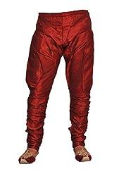 Royal Mens Maroon Silk Blend Baloon Pants