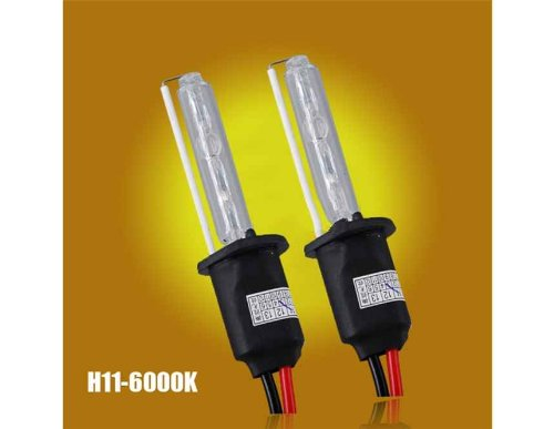 2Pcs 12V 35W H11-6000K Auto Car Headlight Hid Single Xenon Bulbs (Black)