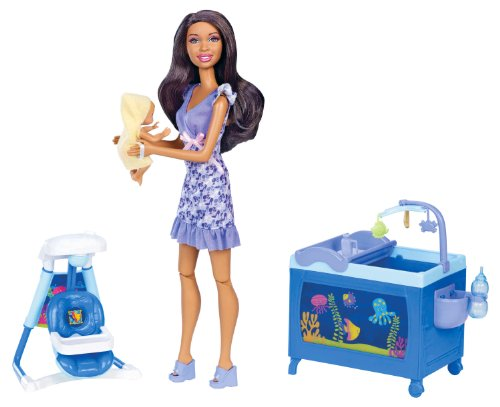 Barbie I Can Be Babysitter Nikki Doll Playset