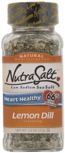 NutraSalt Lemon Dill, 3-Ounce Containers (Pack of 6)