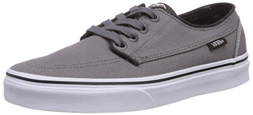 Vans BRIGATA, Low-Top Sneaker unisex adulto, Grigio (Grau ((Canvas) steel F9M)), 43