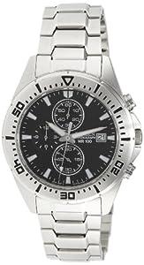 Citizen Men's AN3460-56E Silver Stainless-Steel Quartz Watch with Black Dial