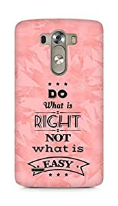 Amez Do what is Right Not what is Easy Back Cover For LG G3
