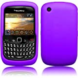 Xylo Purple Soft Silicone Shell / Skin / Case for the BlackBerry Curve 8520 (aka Gemini) Mobile Phone.