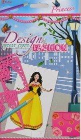 Design your own Fashion Malschablone Schablone Malen Princess 20 Bogen 2 Schablonen