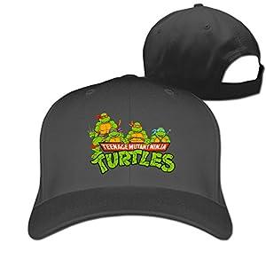 Adult Teenage Mutant Ninja Turtles Cotton Adjustable Peaked Baseball Cap Black